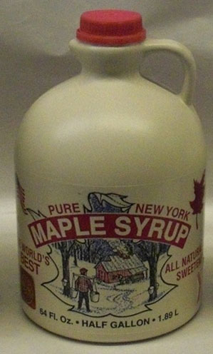 half gallon of maple syrup