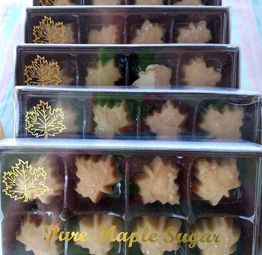 boxes of maple sugar